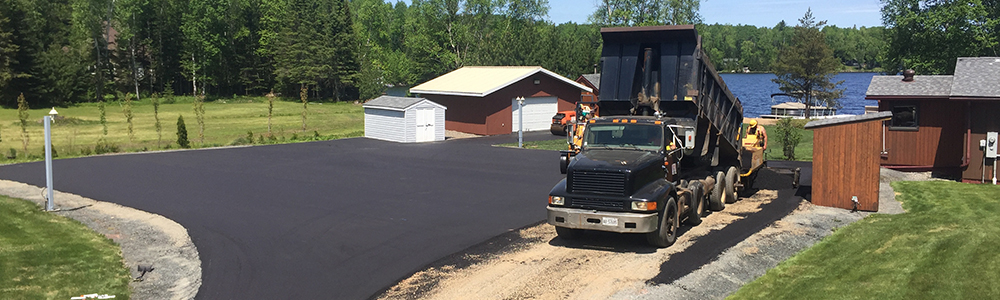 residential paving driveway parking lot for client